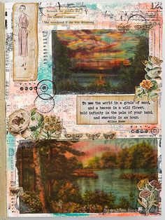 Layers of ink - Vellum Summer Art Journal Page Tutorial by Anna-Karin Evaldsson. Journal Themes, Art Journal Pages, Art Journals, Journal Ideas, Altered Books, Altered Art, Art Journal Challenge, Design Tape, Simon Says Stamp Blog
