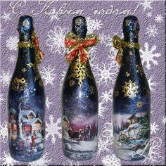 Декор новогоднего шампанского.. Обсуждение на LiveInternet - Российский Сервис Онлайн-Дневников