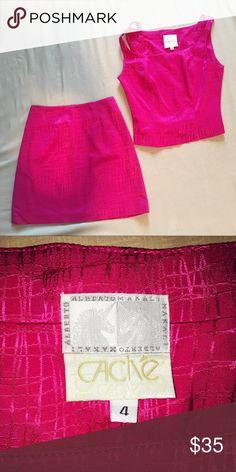 Selling this Cache, Pink, 2 piece, skirt set. on Poshmark! My username is: sheathchicshop. #shopmycloset #poshmark #fashion #shopping #style #forsale #Cache #Other