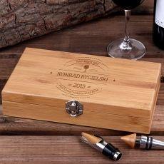 Personalizowane akcesoria do wina LAMPKA WINA idealny na urodziny