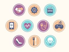 topic icons  / Flat design / #flat #design #icon