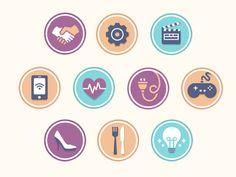 topic icons  / Flat design / #flat #design #icon