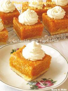 Placinta cu dovleac si crema de oua mai poate fi facuta, in afara de placintar si cu mere.