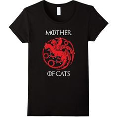Cat Lovers Shirt Mother of Cats Hot 2017 T-Shirt ($16) ❤ liked on Polyvore featuring tops, t-shirts, t shirt, shirt top, tee-shirt, cat print top and cat print shirt
