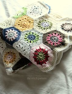 The Stitch Pattern: Ta dah - finished crocheted Starburst Hexagon blanket. The pattern for the hexagon motif is here:  http://thestitchpattern.blogspot.co.uk/2014/02/starburst-hexagons.html