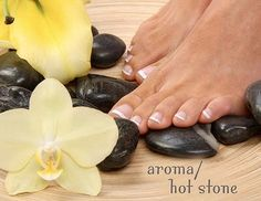 New and Exciting! Recover from thongs! Relax and restore your Feet with a Pedicure and Hot Stone Massage! Only $58! www.donnasbeautycottage.com.au