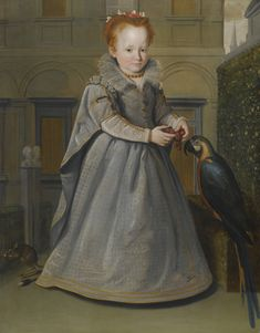 Santi di Tito - Portrait of Lucrezia, daughter of Nicolo di Sinbaldo Gaddi, with a Macaw and a Jerboa Adele, Florence, L'art Du Portrait, Santa Maria Novella, Old Paintings, Classic Paintings, Chef D Oeuvre, Glamour, Expo