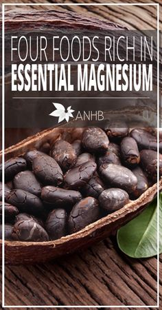 Four Foods Rich in Essential Magnesium - All Natural Home and Beauty #realfood #superfoods #naturalhealth