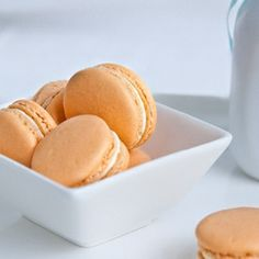 Inspired by a favorite summer treat, Creamsicle Macarons!