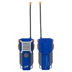 NERF Walkie Talkie for Kids Fun at The Touch of a Button, Set of 1000 feet Range by Sakar, Rugged Pair Battery Powered Gray Blue & Orange Outdoor Toys For Boys, Outside Games For Kids, Nerf Games, Nerf Toys, Arma Nerf, Cool Nerf Guns, Nerf Guns For Sale, Kids Camping Gear, Spy Gear