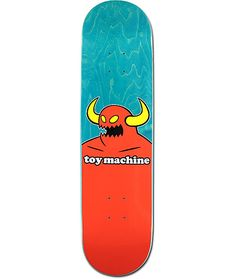 "Back your favorite team of skaters with the Toy Machine Monster 8.12"" Skateboard Deck. Made from a durable 7-ply maple construction with an all around medium concave, this deck features iconic Toy Machine monster styling on the underbelly."