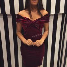 kadife elbise (7589532)
