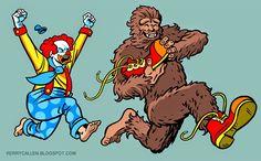Bigfoot vs Clown