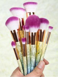 Glittler Makeup Brushes Set - ROSE GOLD