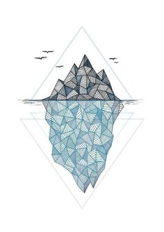 Iceberg Print by Barlena on Pixels.com