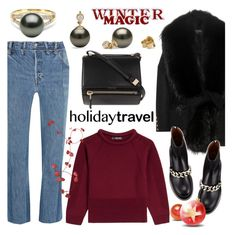 """""""Travel in Style, Holiday Edition"""" by pearlparadise ❤ liked on Polyvore featuring Vetements, Balmain, Alexander McQueen, Givenchy, contestentry, travelinstyle, holidaystyle, pearljewelry and pearlparadise"""