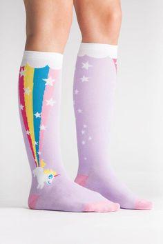 a2db52913a5 Sock it to me Rainbow Kneehigh Socks