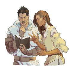 Dragon Age: Inquisition - Dorian and Inquisitor Lavellan