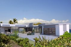 Contemporary Style House Plan - 3 Beds 3 Baths 1335 Sq/Ft Plan #484-7 Exterior - Front Elevation - Houseplans.com