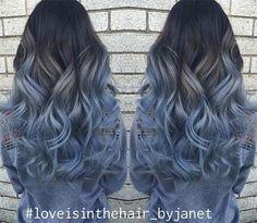 Blue Denim Hair Colors: Pastel Princess Balayage