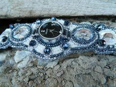"""Купить Наручные часы """"Ночная жемчужина"""" - серебряный, часы наручные, лето 2014, часы"""
