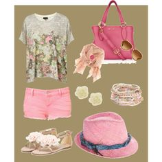 I like pink, created by #polyvorian-218 on #polyvore. #fashion #style #Topshop Silvian Heach