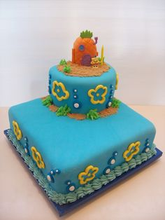 Sponge Bob Cake Auckland $295 (figurines bought from a licensed retailer)