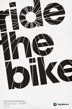 ride the bike poster with spokes