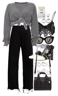 """Untitled #10144"" by nikka-phillips ❤ liked on Polyvore featuring Victoria Beckham, ASOS, Marques'Almeida, For Love & Lemons, Bella Freud, Ashish, Miu Miu and Forever 21"