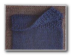 Курс вязания спицами. Набранный накладной карман. Карман с клапаном