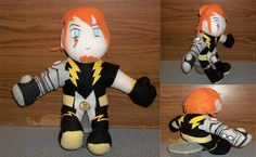 Lightning Lad plush by YoshiFan37 on Etsy, $45.00