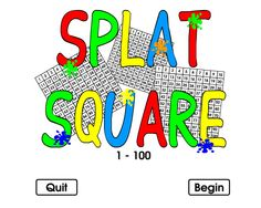 Very simple to use this interactive 100 square. Kids love it because of the splats and splat sounds!
