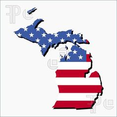 Map of the State of Michigan