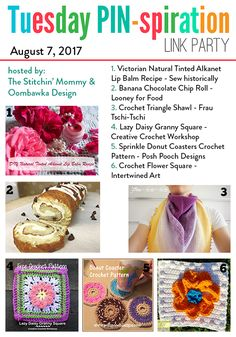 Featured Favorites at the Tuesday PIN Party https://oombawkadesigncrochet.com/2017/08/featured-favorites-tuesday-pin-party-2.html