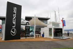 Lexus container stand at America's Cup Village in San Francisco #container #lexus #americascup