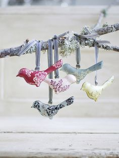 Christmas decor ~ These are made of tin, but they could be made of felt or even scrapbook paper.