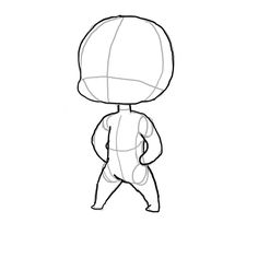 how to draw chibi bodies - Google Search