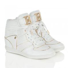 Micheal Kors White Women s Nikko High Top Trainer Michael Kors Wedge  Sneakers 4ac7346d7fa96