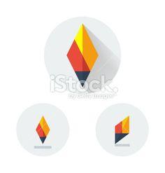 flat vector logo for fire torch stock vector art 57012306 - iStock