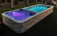 The TidalFit DT-21 has all of the features you love - LED lighting, hydrotherapy jets and a swim current! Backyard Pool And Spa, Night Swimming, Light Up, Exercise, Led, Pools, Outdoor Decor, Ejercicio, Excercise