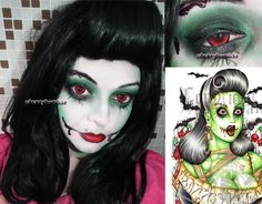 cute halloween makeup ideas | pinup_zombie_girl_halloween_inspired_look_by_cherrybomb_81-d5g99cx