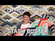 City Girl Chevron Stash Buster - YouTube Chevron Quilt Tutorials, Quilting Tutorials, Quilting Ideas, Jellyroll Quilts, Easy Quilts, 3d Quilts, Modern Quilt Patterns, Quilt Block Patterns, Quilt Blocks