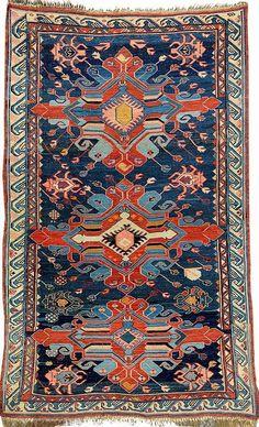 Seikur-Sumakh, East Caucasus, late 19th century, wool/wool, approx. 144 x 88 cm