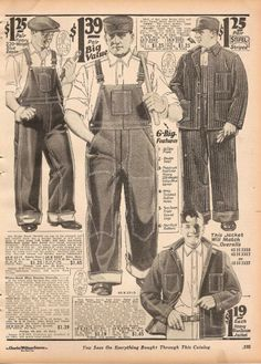 Working class style that was typically a dark color, such as navy, to disguise any stains