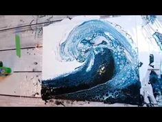 Acrylic Pouring Art - How to make beautiful artwork using an acrylic pouring technique. Fluid art pouring tutorial and marbling technique Pour Painting Techniques, Acrylic Pouring Techniques, Acrylic Pouring Art, Acrylic Art, Simple Acrylic Paintings, Galaxy Painting, Diy Painting, Painting Abstract, Blue Painting