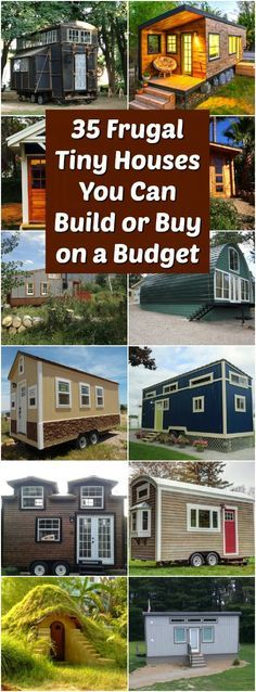 """35 Frugal Tiny Houses You Can Build or Buy on a Budget - Tiny house living is a trend which has taken off around the world, especially in overcrowded cities, but also out in the countryside, where a small home can help to put the occupant in touch with nature. One of the purported benefits of tiny house living is downsizing—not just in terms of space and """"stuff,"""" but also in terms of cost of living."""