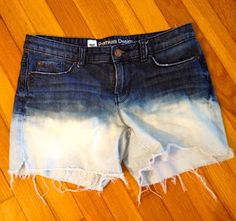 The Things I Care To Share: DIY Bleach Dyed Shorts