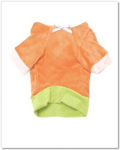 Romy and Jacob Summer Dog Hoodie in Papaya and Green velours $45.99