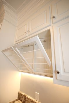Drying rack is a must have! Custom Cabinetry, Closet, Design, Home Decor, Custom Closets, Armoire, Decoration Home, Made To Measure Wardrobes, Room Decor