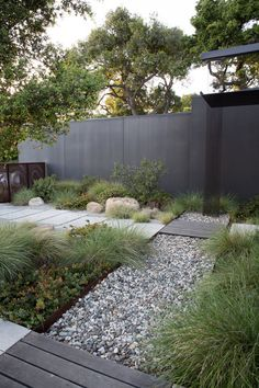 Black house — Lane Goodkind + Associates - All For Garden Modern Landscape Design, House Landscape, Garden Landscape Design, Modern Landscaping, Outdoor Landscaping, Front Yard Landscaping, Modern Design, Modern Garden Design, Type Design